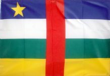 CENTRAL AFRICAN REPUBLIC - HAND WAVING FLAG (MEDIUM)